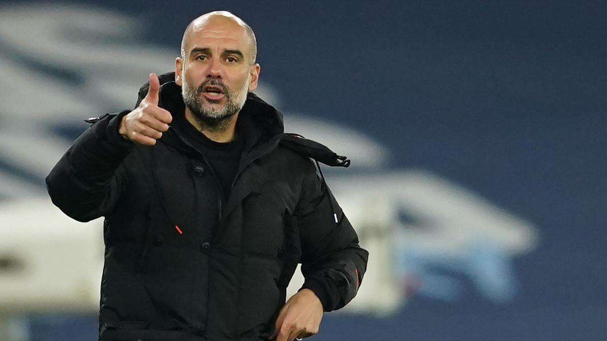Pep Guardiola en décembre 2020.
