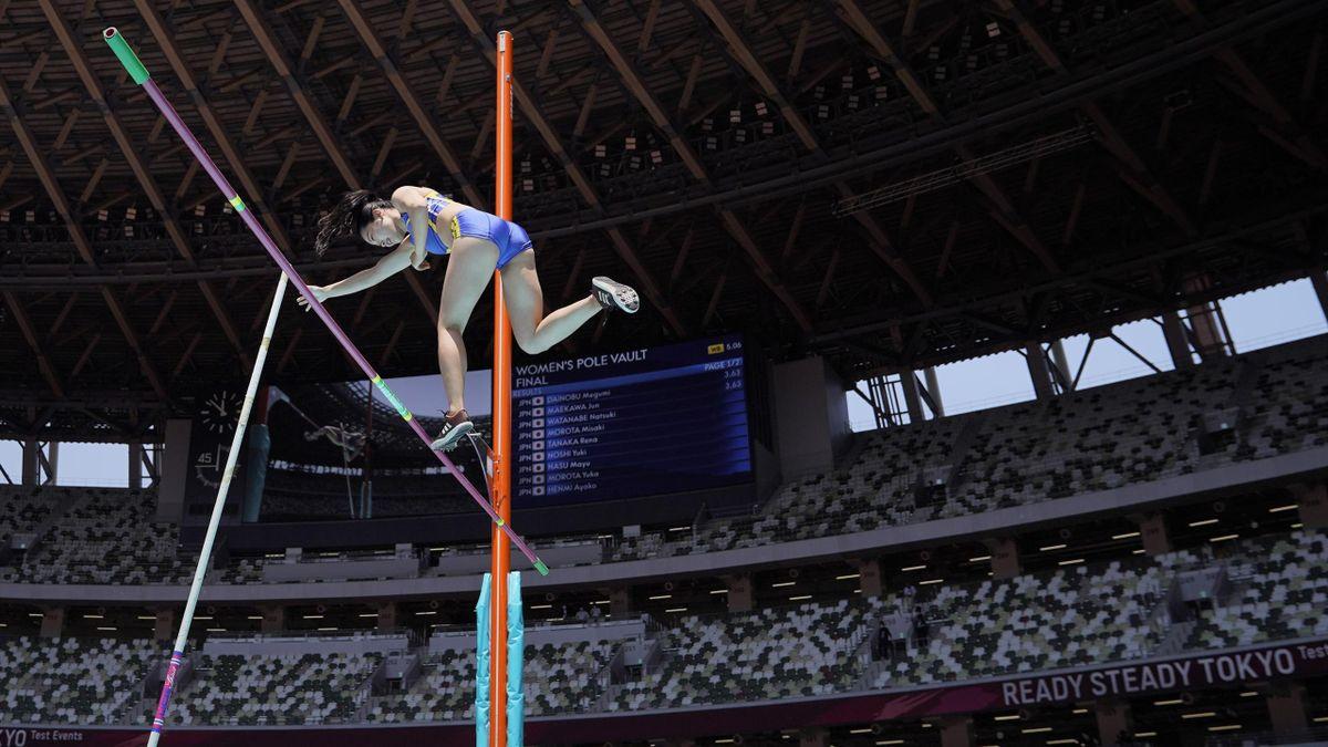 Pole vault, Olympic test event, World Athletics Continental Tour, National Stadium, Tokyo, Japan, May 09, 2021