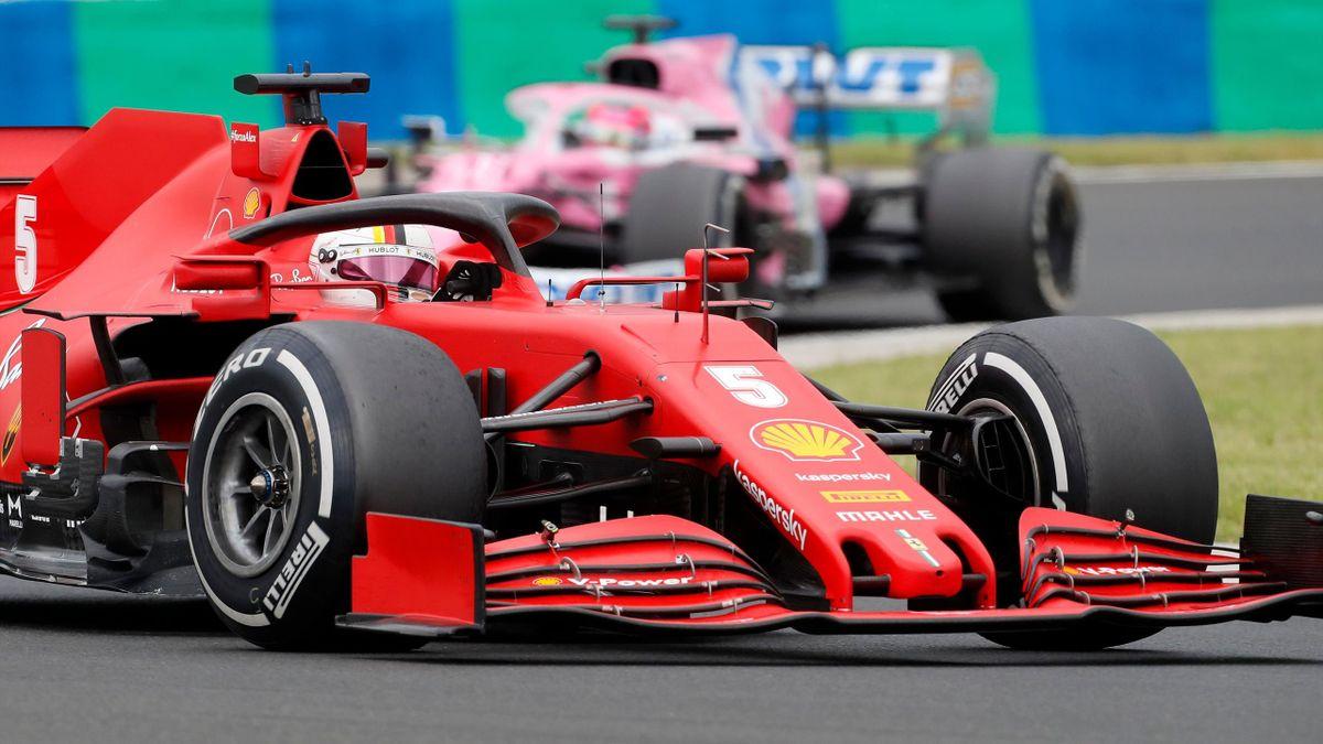 Sebastian Vettel im Ferrari. Im kommenden Jahr fährt er für Aston Martin