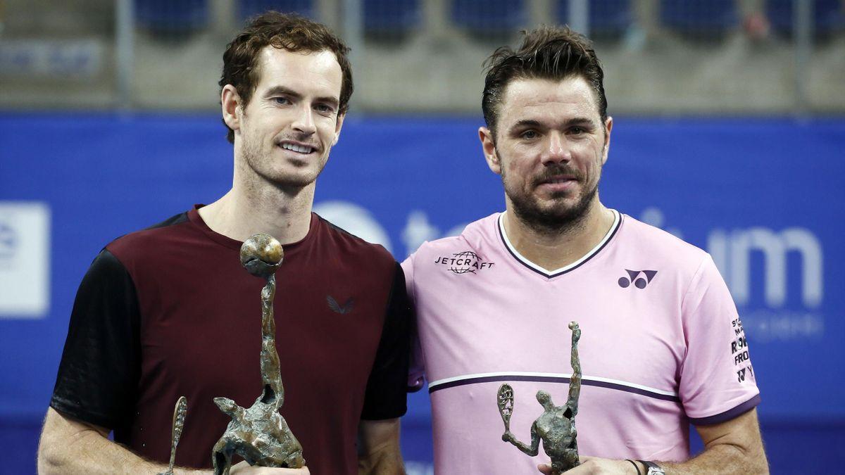 Andy Murray y Stan Wawrinka (ATP Amberes 2019)