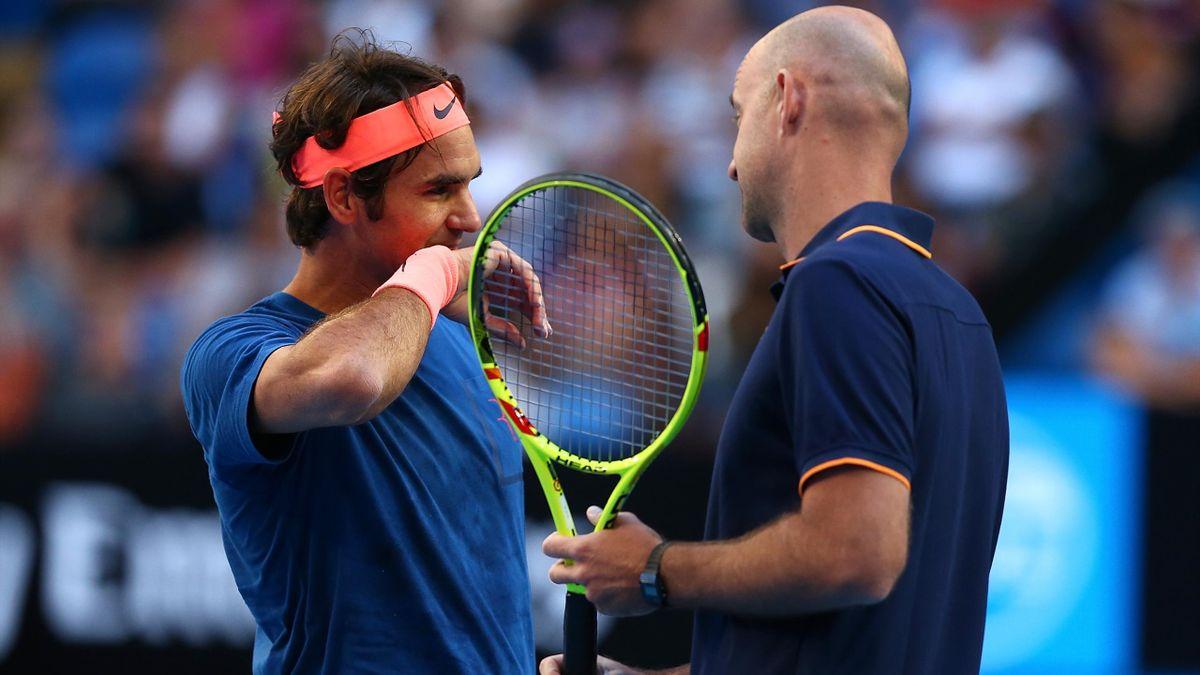 Roger Federer und Coach Ivan Ljubicic