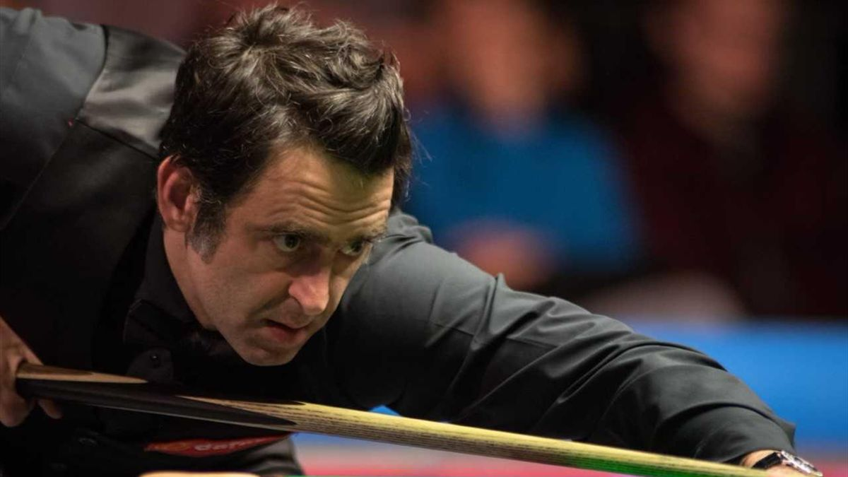 Ronnie O'Sullivan in action at the Scottish Open.