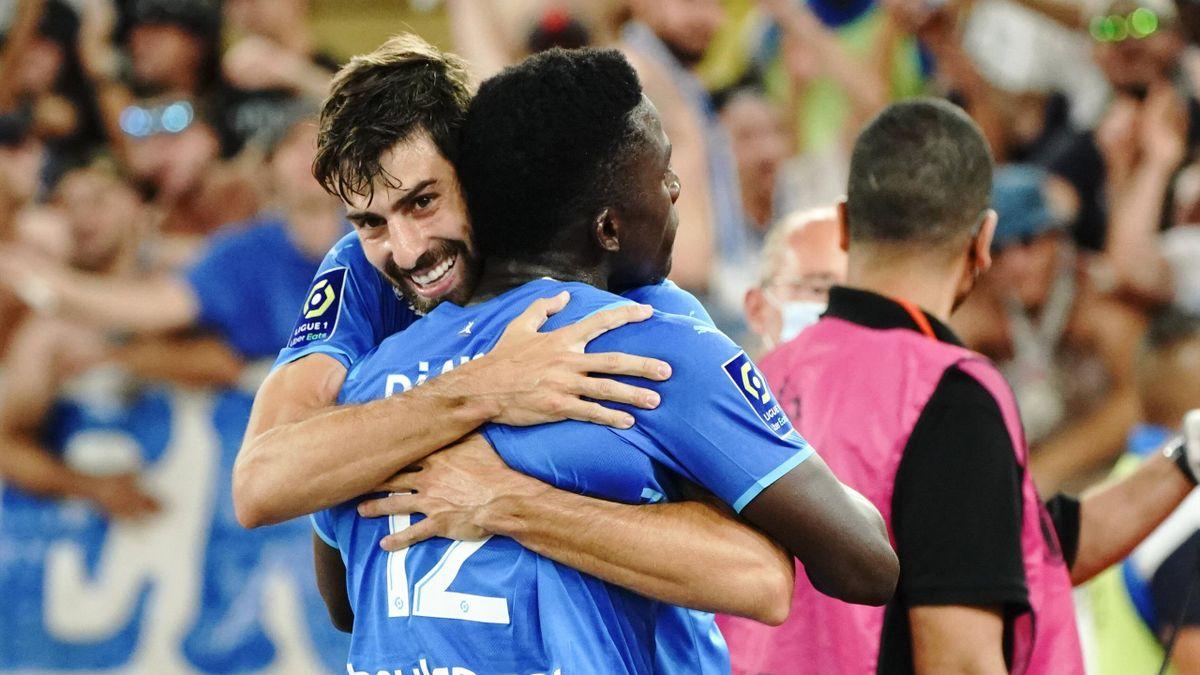 Luan Peres prend Bamba Dieng dans le bras, l'OM s'impose à Monaco (0-2) - Ligue 1, le 11 septembre 2021