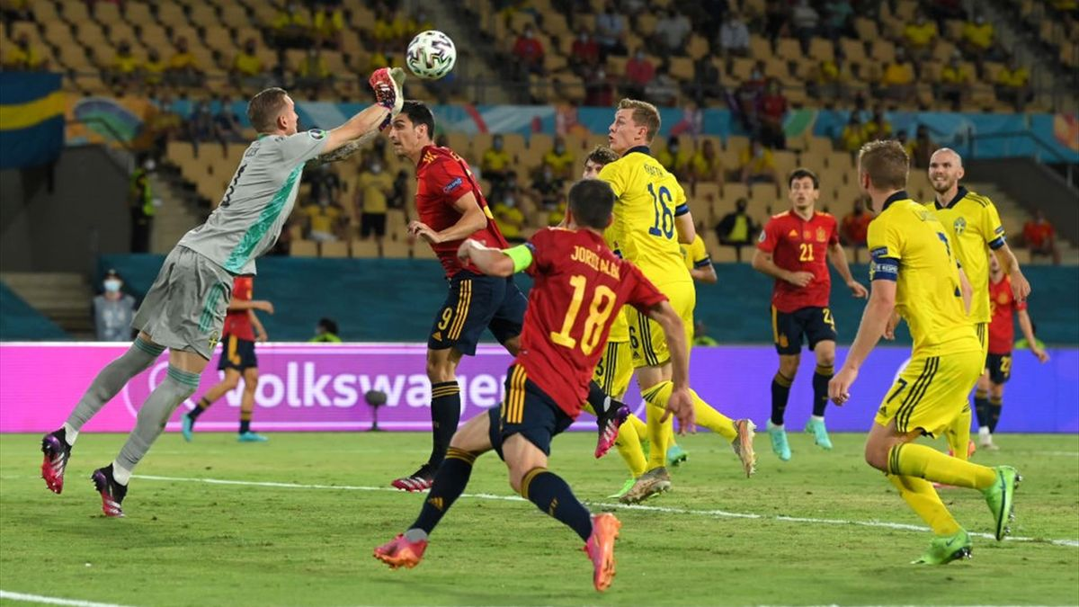 Robin Olsen anticipa Gerard Moreno in uscita - Spagna-Svezia Euro 2020