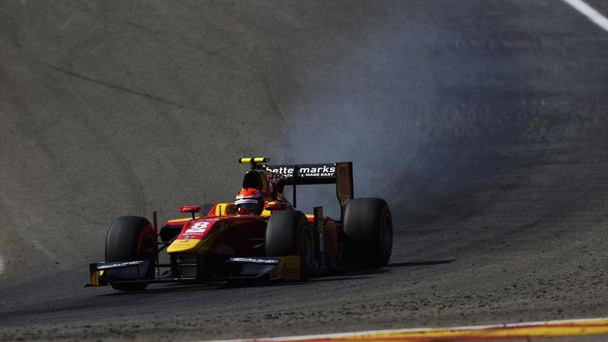 Alexander Rossi (Racing Engineering) sur la piste de Spa-Francorchamps - Grand Prix de Belgique 2015