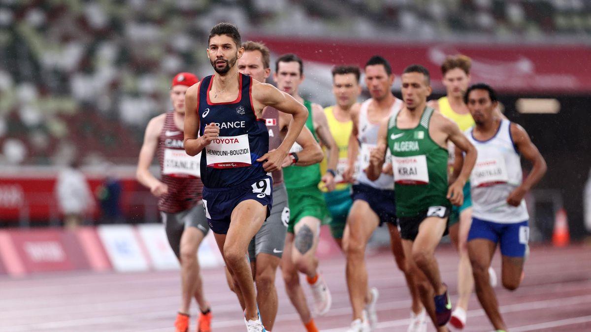 Redouane Hennouni-Bouzidi  termine 4e du 1500m T38 à Tokyo