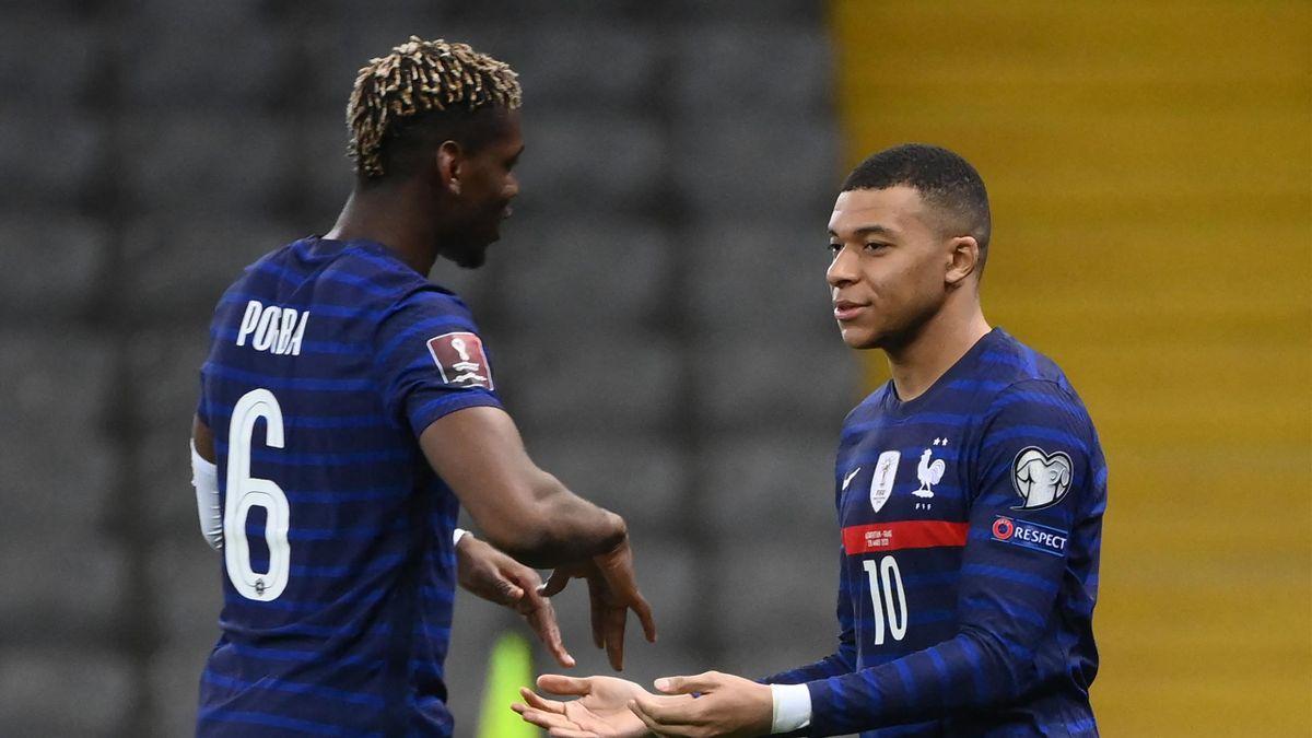 Pogba et Mbappé sous le maillot des Bleus
