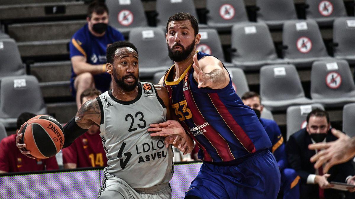 David Lighty et l'ASVEL ont fait chuter le Barça en Euroligue.