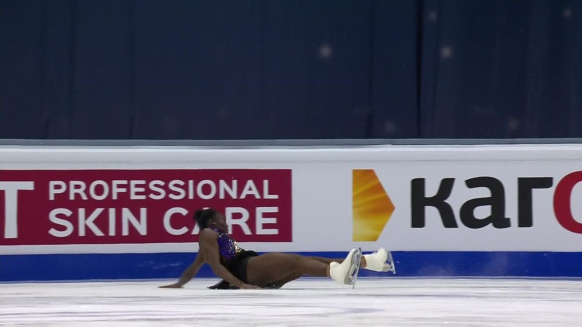 Figure Skating : Maé-Bérénice Méité's jump