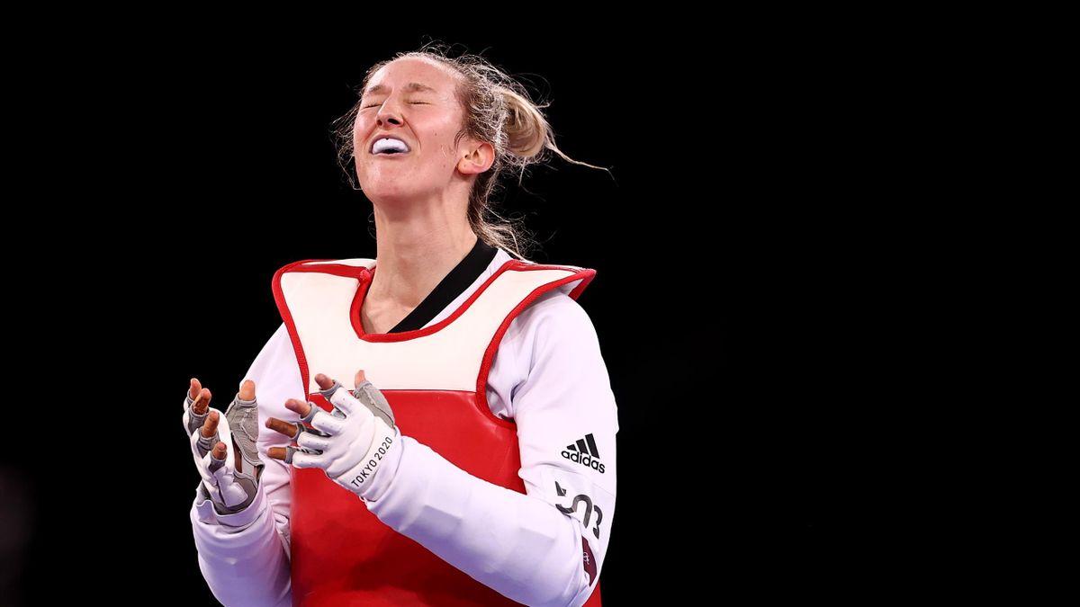 Lauren Williams of Team GB celebrates
