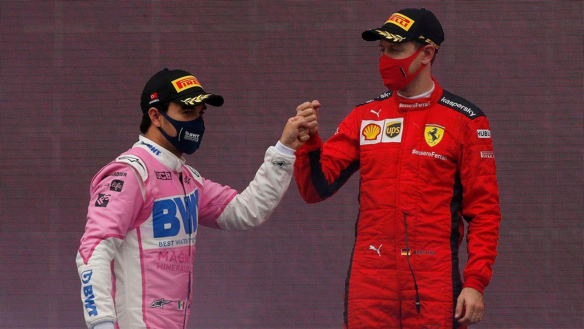 Sergio Pérez (links) und Sebastian Vettel in Istanbul