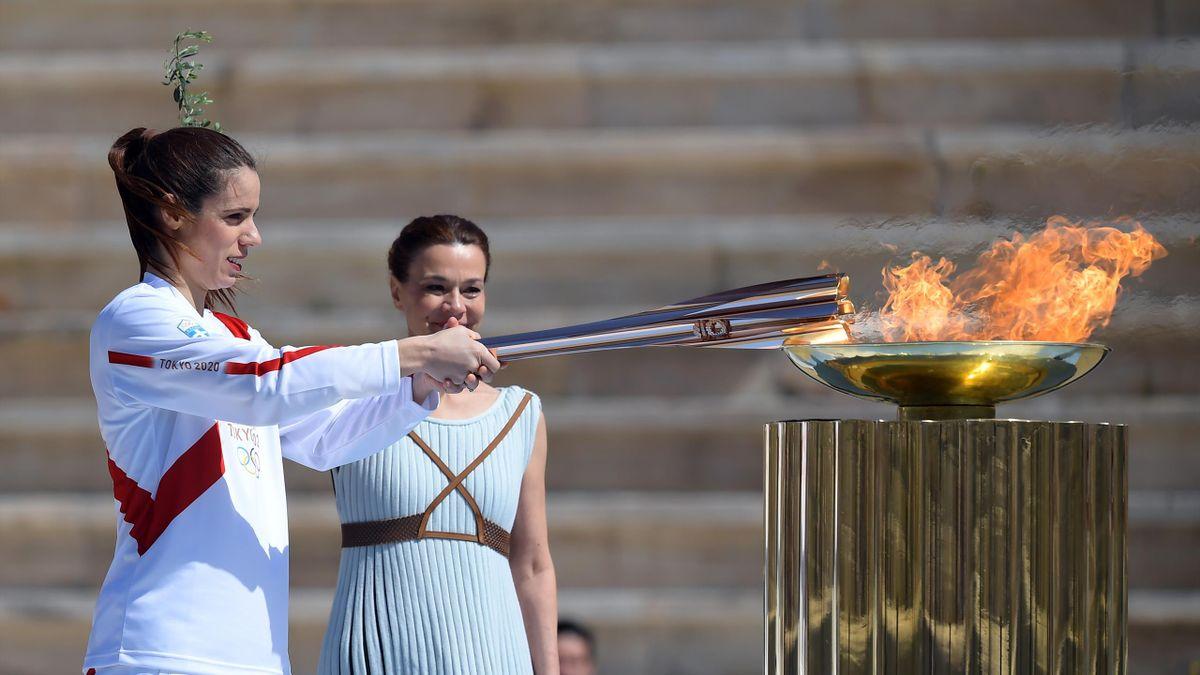 Der Olympische Fackellauf soll vor Zuschauern stattfinden