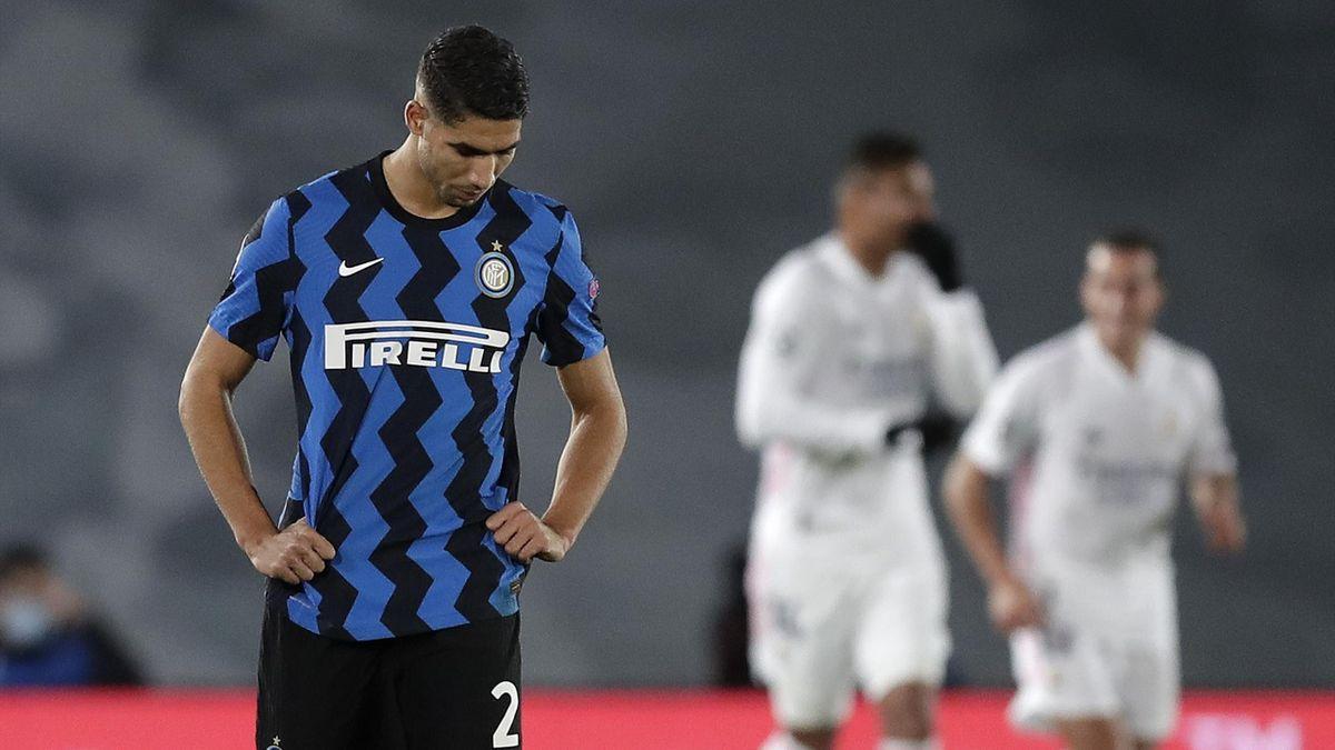 La delusione di Achraf Hakimi, Real Madrid-inter, Getty Images