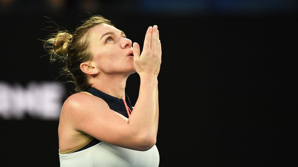 Simona Halep after beating Lizette Cabrera