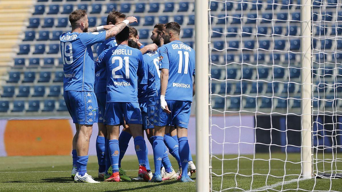 Empoli-Brescia, Serie B 2020-2021: l'esultanza dell'Empoli (Getty Images)