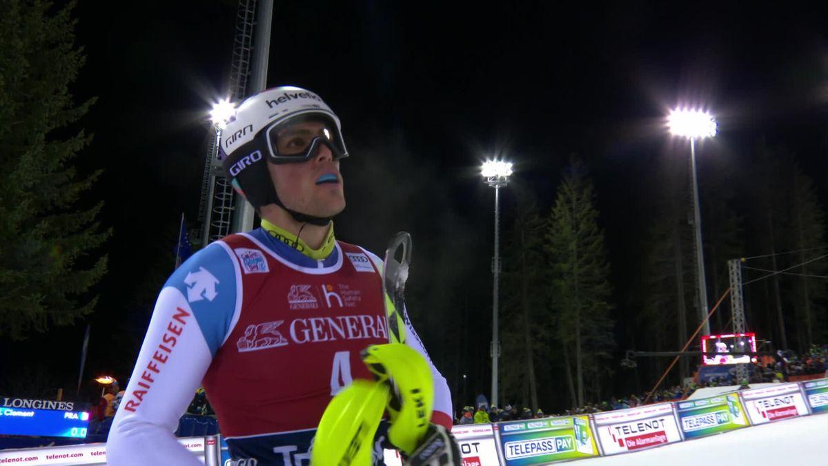 Alpine Skiing : Madonna di Campiglio , Slalom Men - Run 1 - Daniel Yule