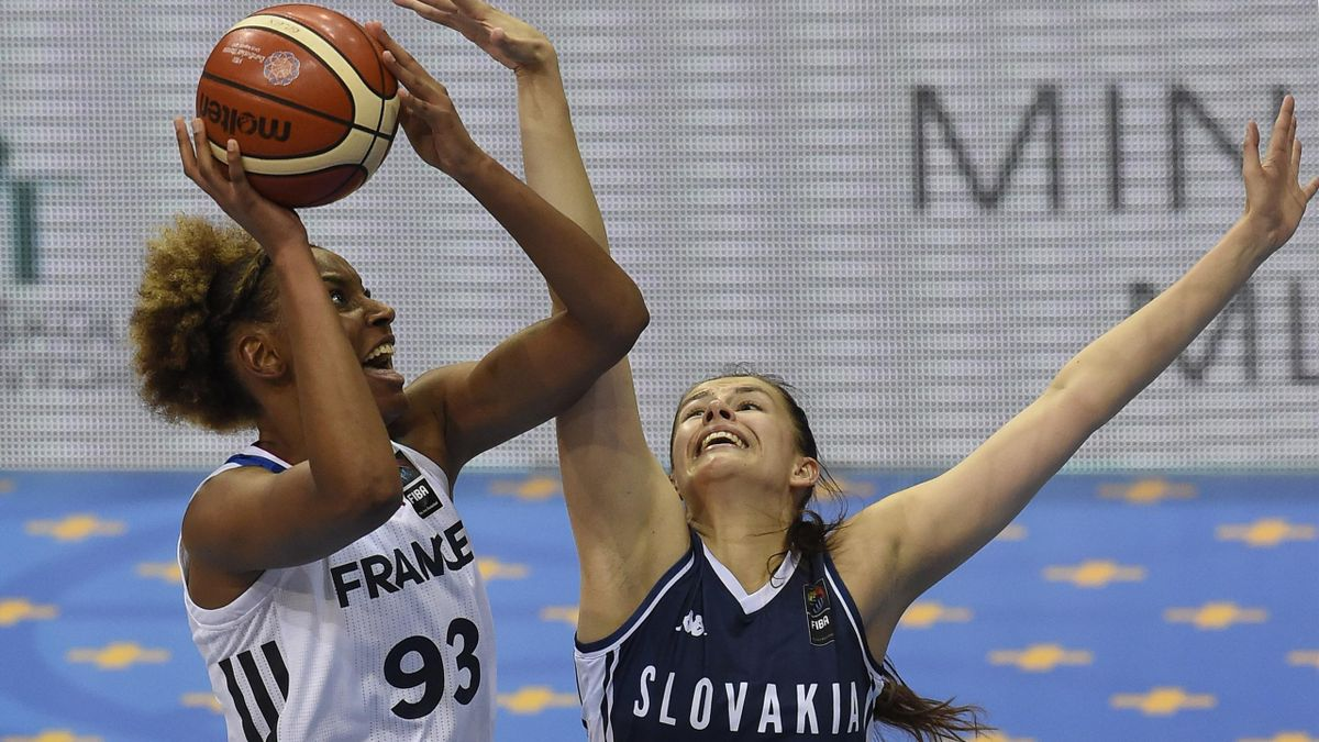 Diandra Tchatchouang face à la Slovaquie