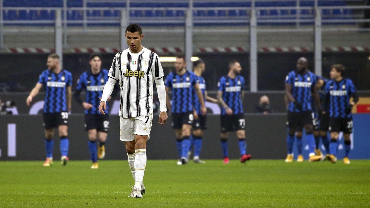 Криштиану Роналду в матче «Интер» – «Ювентус»