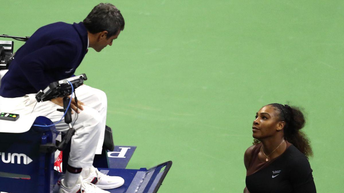 Serena Williams et Carlos Ramos lors de la finale / US Open