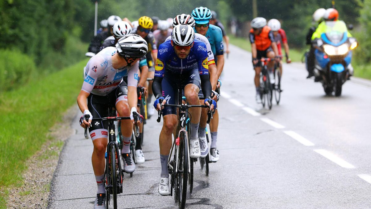 Tadej Pogacar, lors de la 8e étape du Tour de France, qu'il a éclaboussée de sa classe