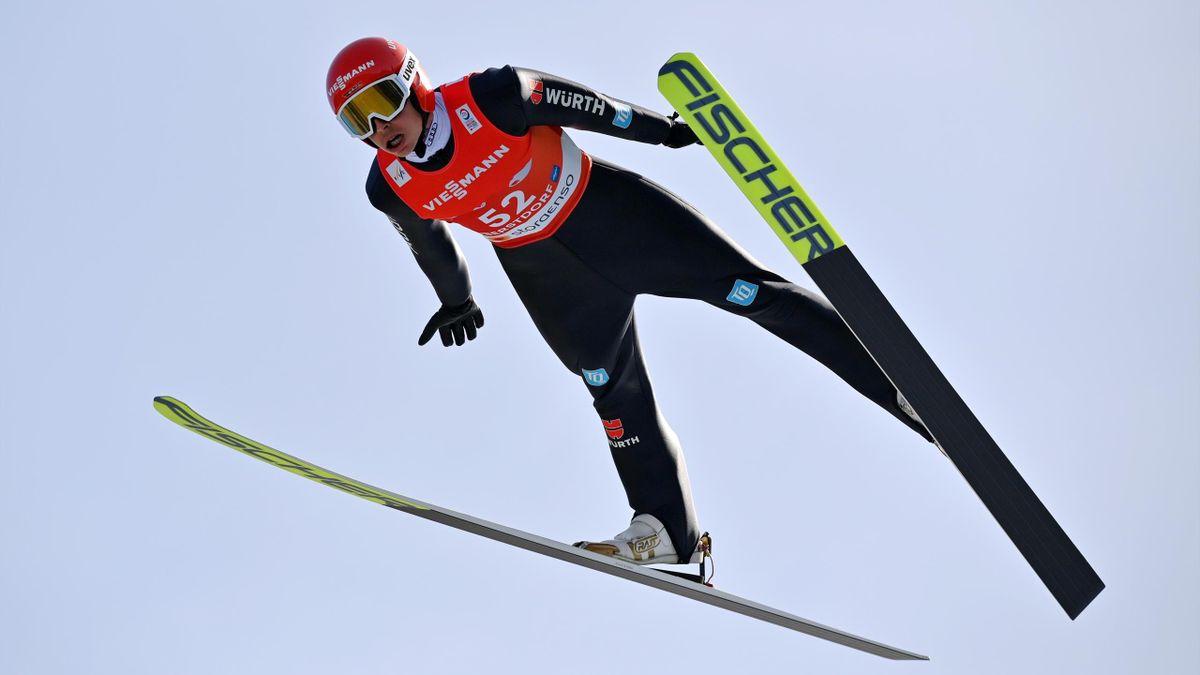 Eric Frenzel bei der Nordischen Ski-WM 2021 in Oberstdorf