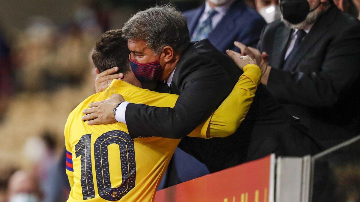 Lionel Messi et Joan Laporta (FC Barcelone)