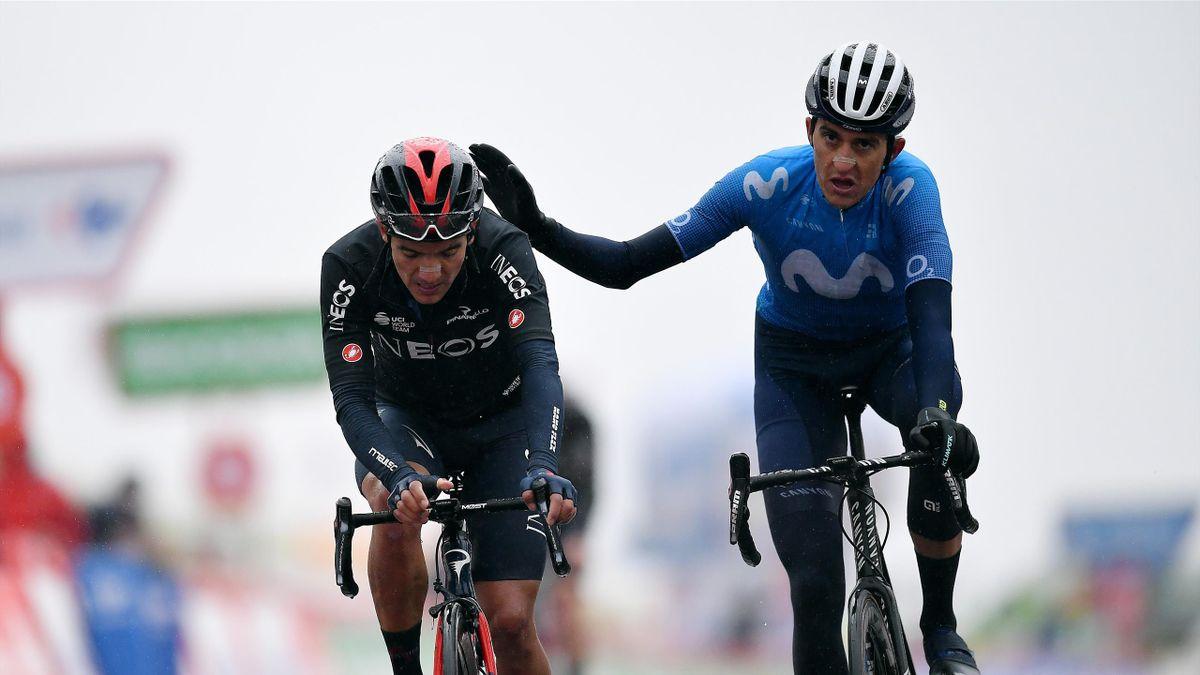 Richard Carapaz et Marc Soler sur la 6e étape de la Vuelta 2020