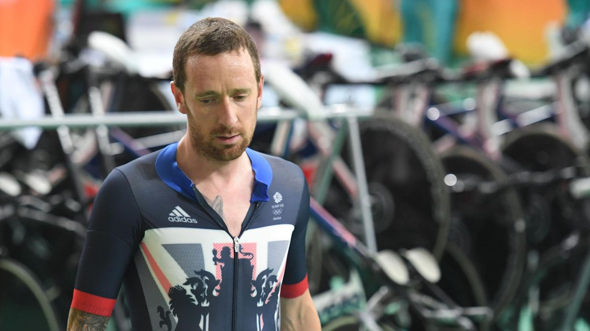 Britain's Bradley Wiggins looks on after competing in the men's Team Pursuit qualifying track cycling event at the Velodrome during the Rio 2016 Olympic Games in Rio de Janeiro on August 11, 2016.