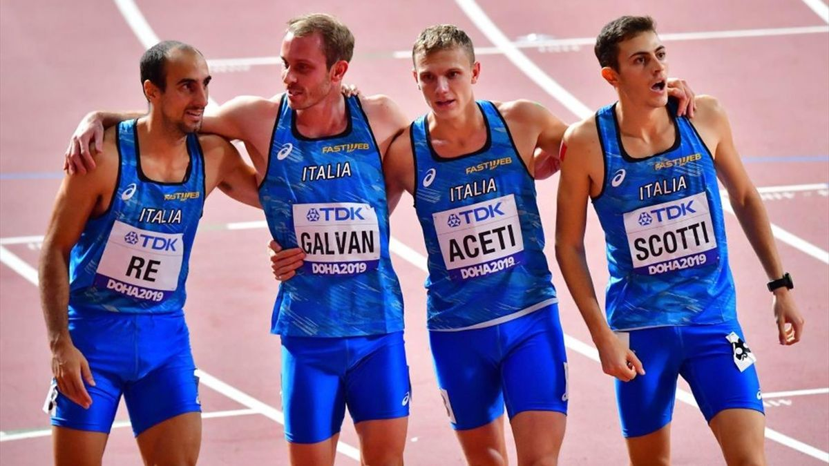 Davide Re, Galvan, Aceti, Scotti - World Championship 2019 Doha - Getty Images