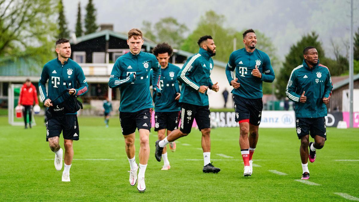 Die Stars des FC Bayern München im Trainingslager am Chiemsee