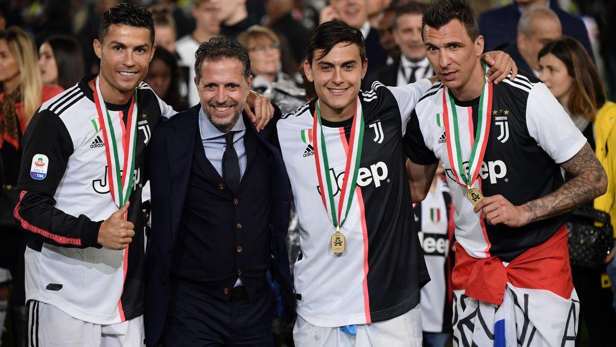 Paratici, Dybala, Mandzukic, Ronaldo - Juventus-Atalanta - Serie A 2018/2019 - Getty Images