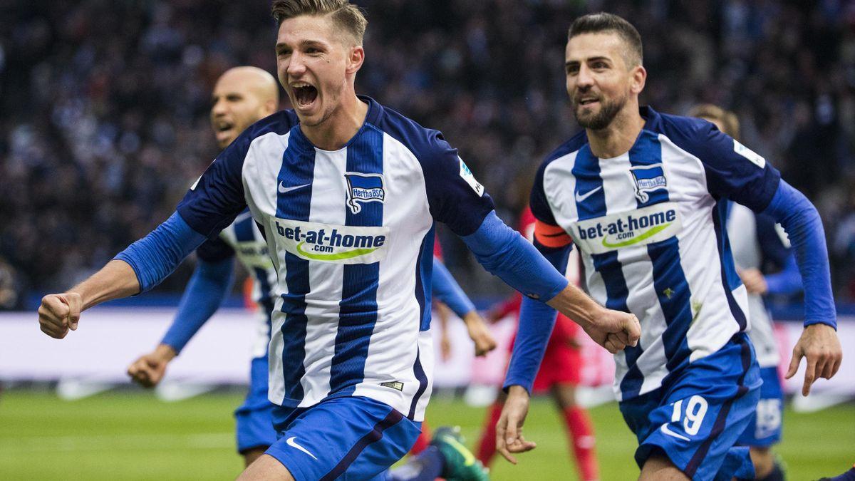 Niklas Stark und Vedad Ibisevic (Hertha BSC)