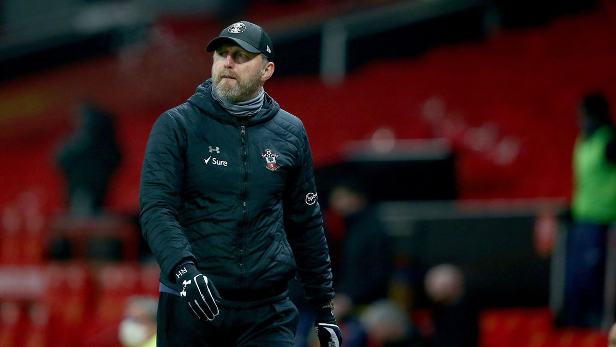Southampton manager Ralph Hasenhüttl during the Premier League match between Manchester United and Southampton at Old Trafford on February 02, 2021 in Manchester, England.
