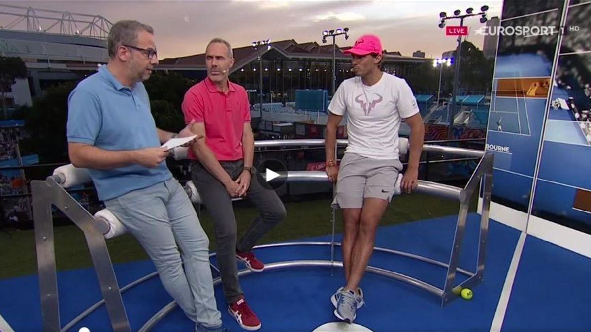 Rafa Nadal en exclusiva en 'Pasando Bolas' de Eurosport