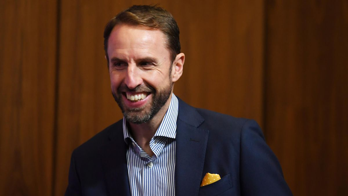 LONDON, ENGLAND - OCTOBER 03: England Manager Gareth Southgate talks to the press during a England Squad Announcement at Wembley Stadium on October 03, 2019 in London, England. (Photo by Alex Davidson/Getty Images)
