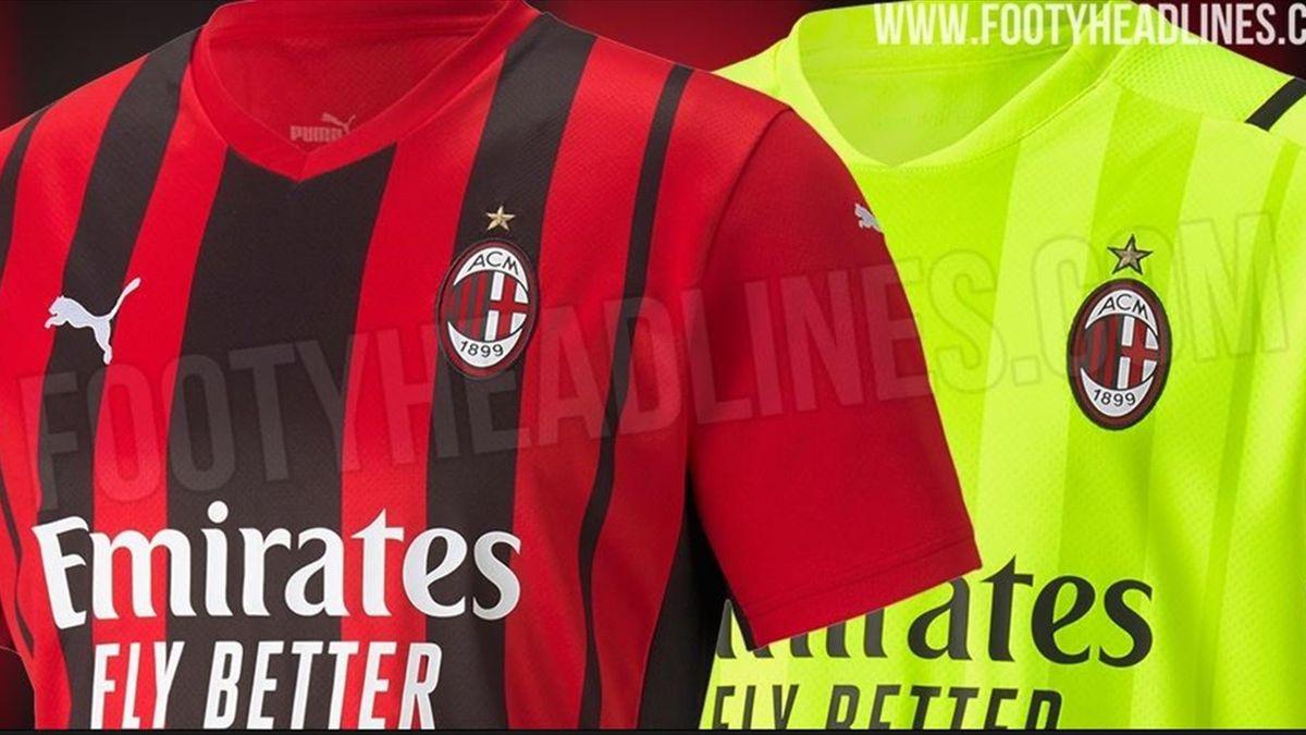 Svelata in anteprima la nuova maglia del Milan 21/22   credit: FootyHeadlines.com