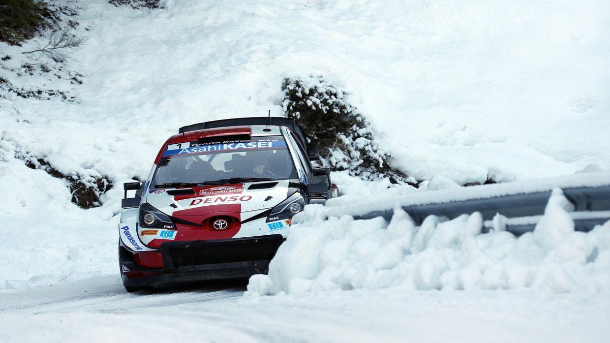 Sébastien Ogier (Toyota) au Rallye de Monte-Carlo, le 24 janvier 2021