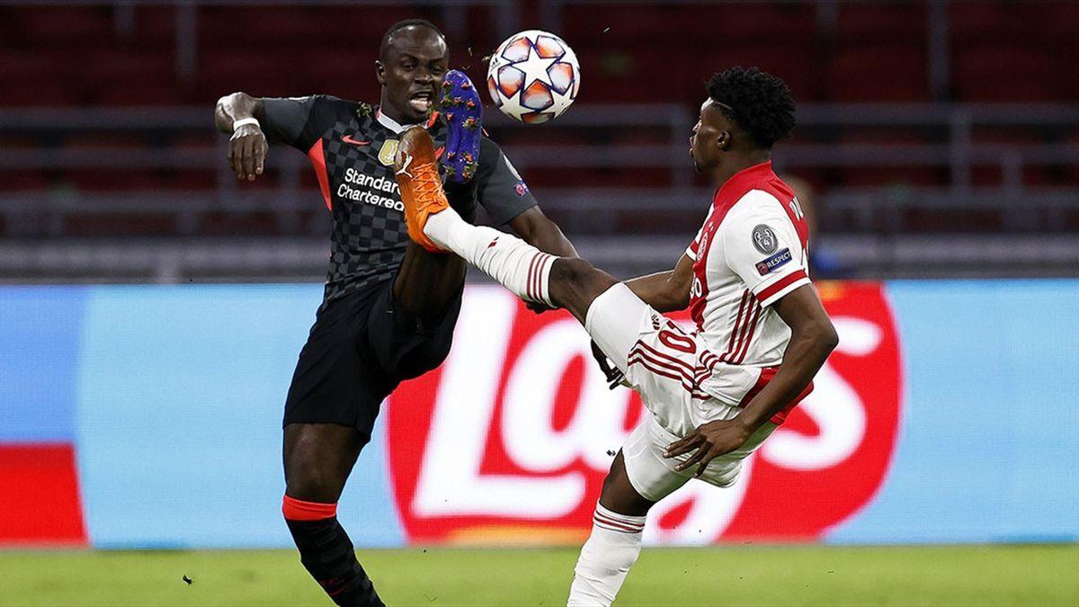 Sadio Mane, în duelul cu Ajax, din Champions League