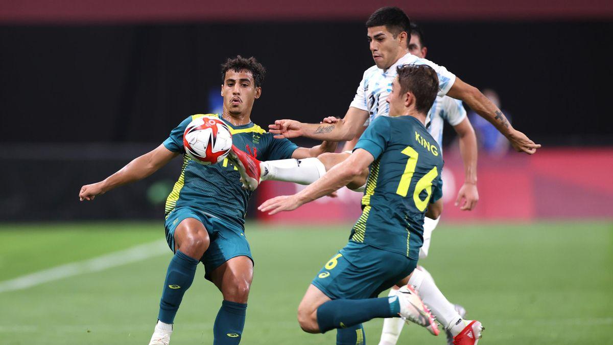 Argentinien hat zum Auftakt des Olympischen Fußballturniers gegen Australien verloren