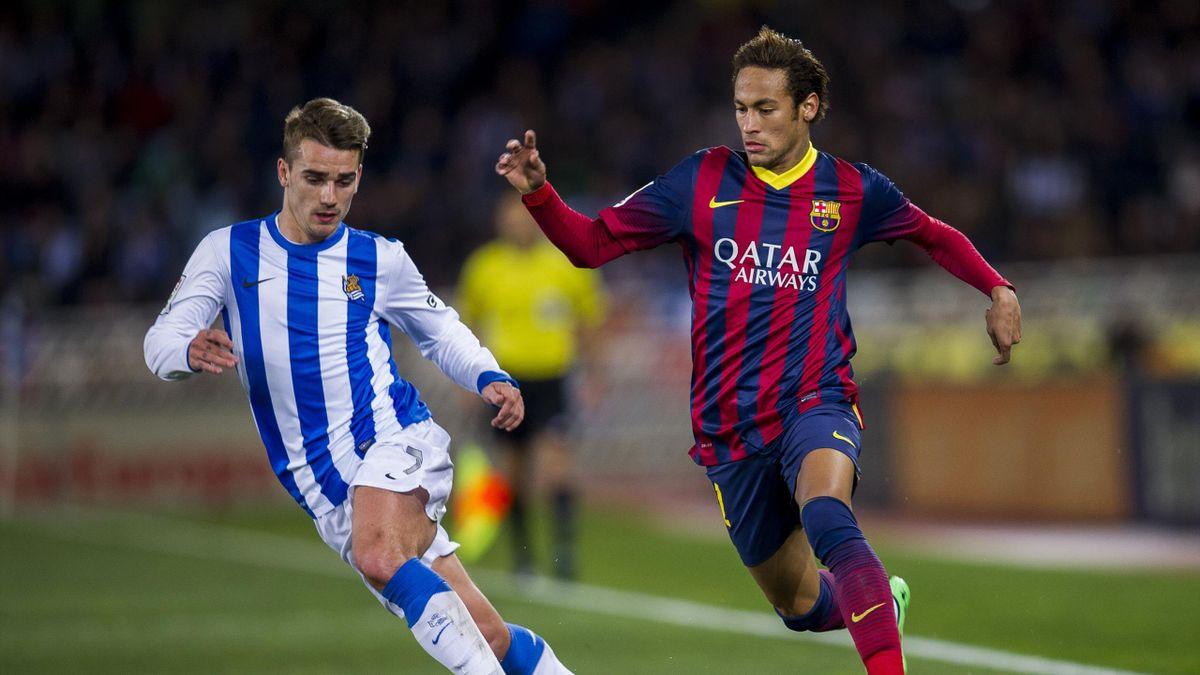 Antoine Griezmann et Neymar en 2014