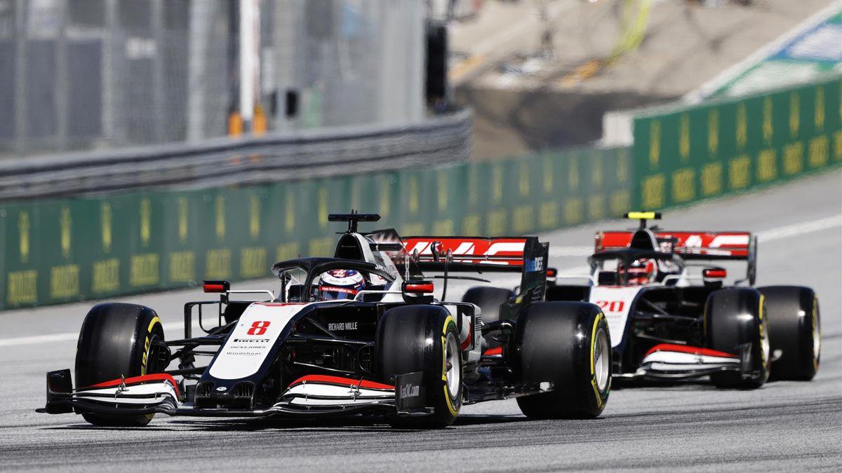 Romain Grosjean, Kevin Magnussen (Haas) - GP of Asutria 2020