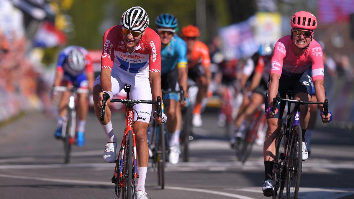 Mathieu van der Poel à l'arrivée de l'Amstel Gold Race 2019
