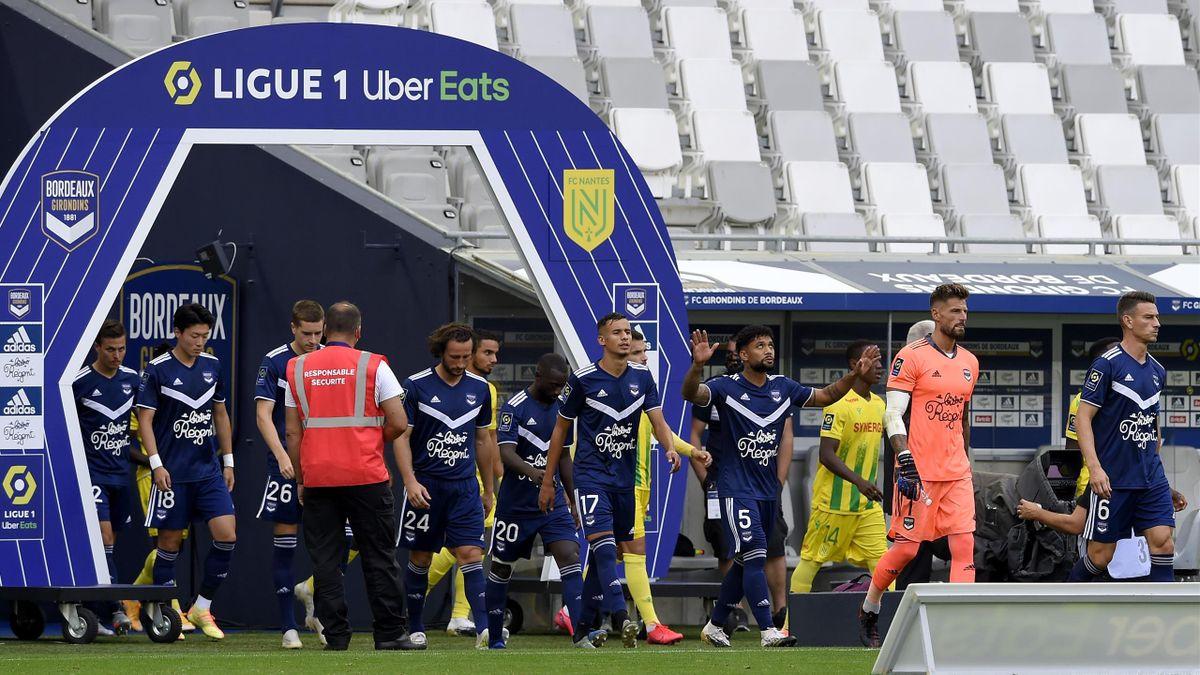 Les Girondins de Bordeaux lors de la réception de Nantes fin août.