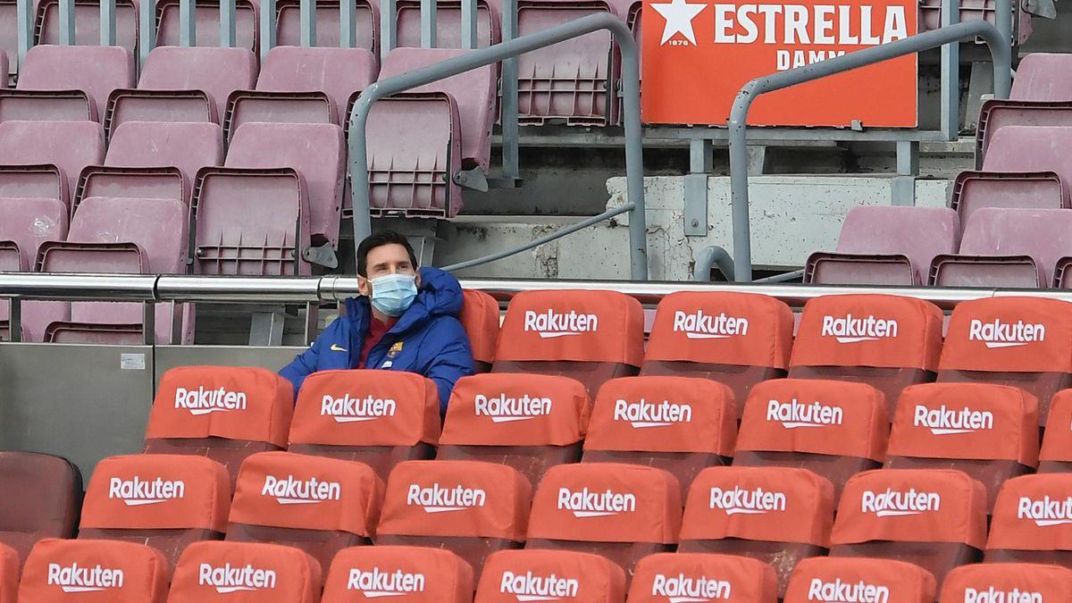 Barcelona's Argentine forward Lionel Messi