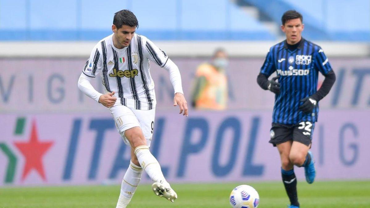 Alvaro Morata - Atalanta-Juventus Serie A 2020-21