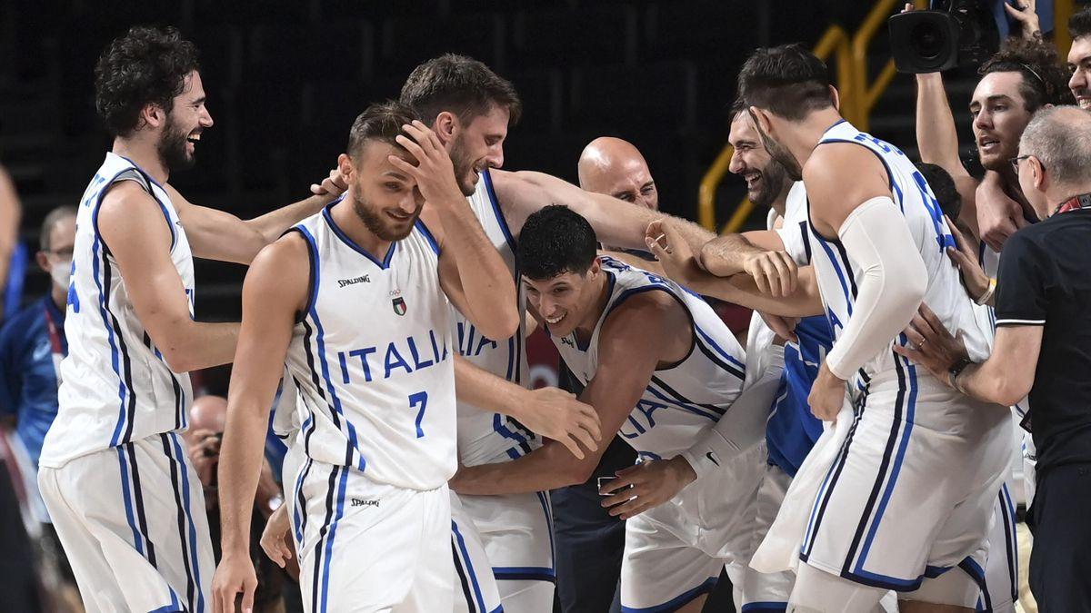 L'incredulità di Tonut e del gruppo azzurro: l'Italbasket è ai quarti alle Olimpiadi dopo 17 anni