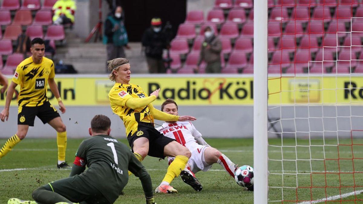 Erling Haaland traf gegen den 1. FC Köln erneut doppelt
