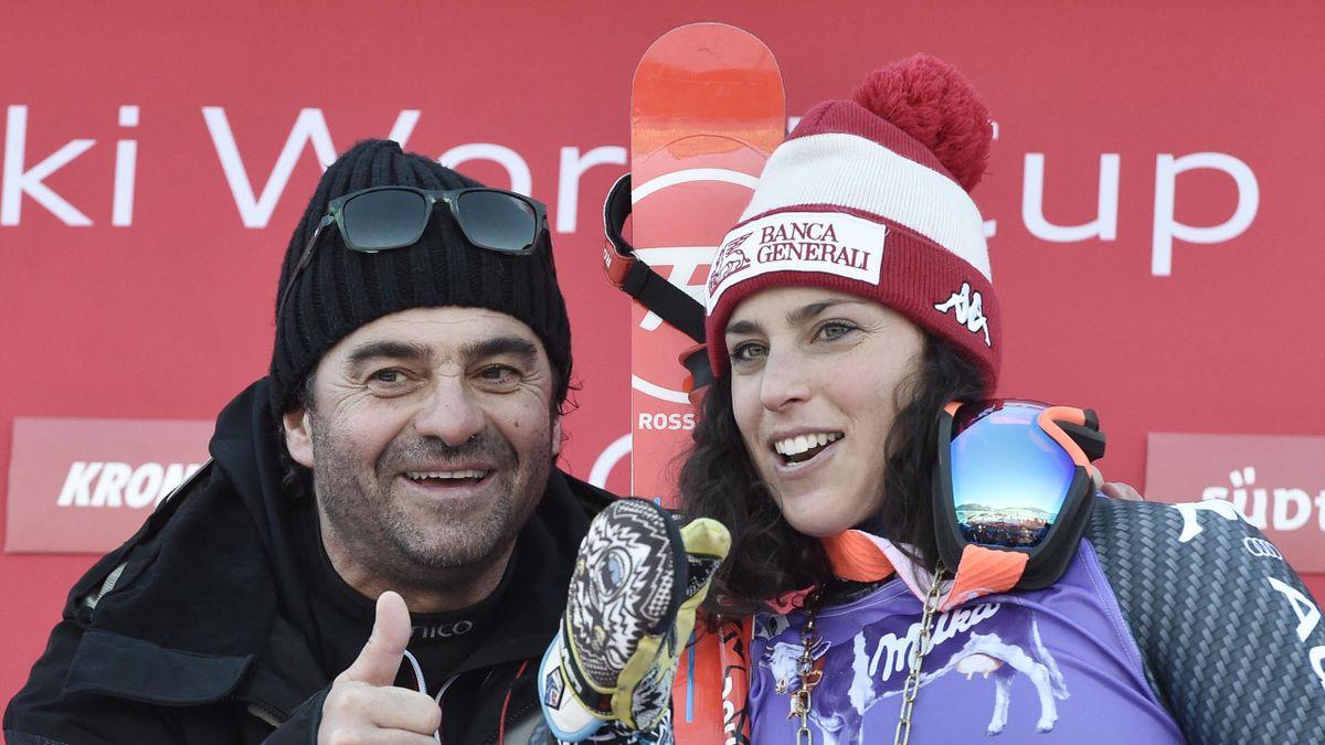 Alberto Tomba con Federica Brignone nel 2017