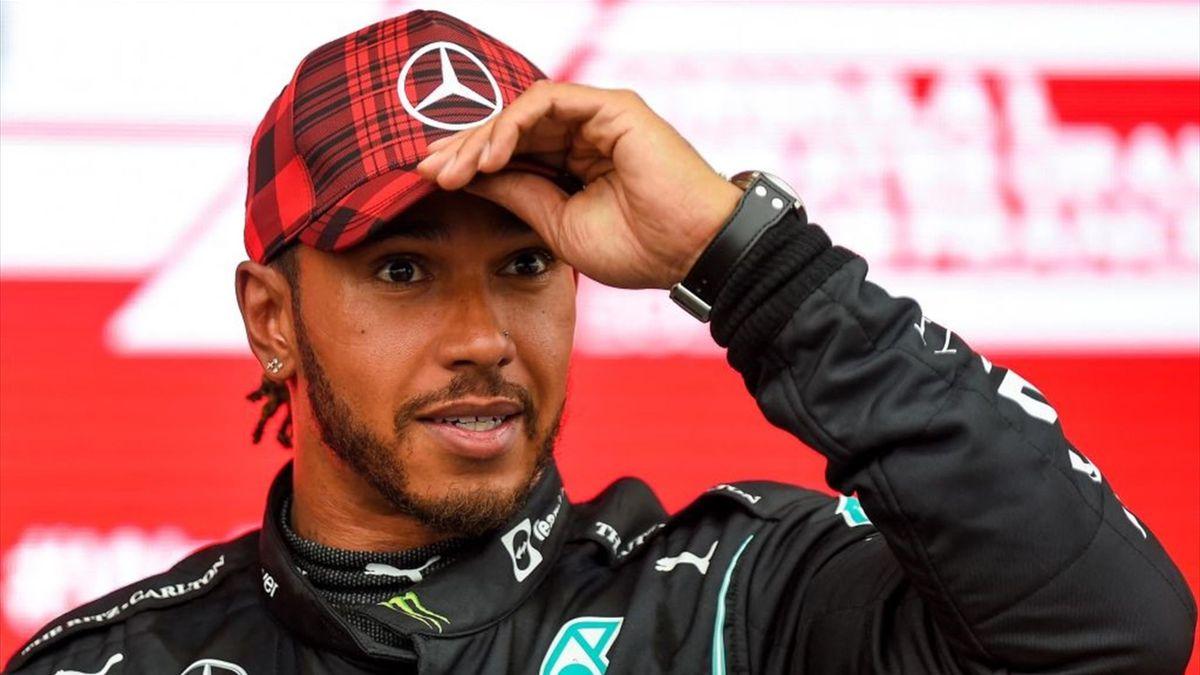 Hamilton (Mercedes) au Grand Prix de France 2021