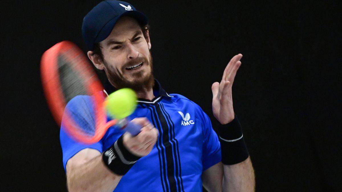 Scotland's Andy Murray returns